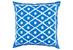 Mania 18x18 Outdoor Pillow, Indigo