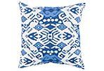 Latia 18x18  Outdoor Pillow, Indigo