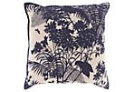 Botany 20x20 Pillow, Navy
