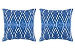 S/2 Lydia Outdoor Pillows, Indigo