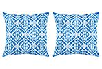 S/2 Malory Outdoor Pillows, Indigo