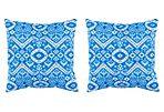 S/2 Halie Outdoor Pillows, Indigo