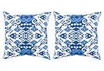 S/2 Latia  Outdoor Pillows, Indigo