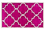 Kalob Rug, Hot Pink/Light Gray