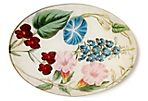 Blue and White Morning Glories Tray