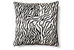 Baby Zebra Hide Pillow, Black