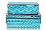 Asst. of 2 Lucia Boxes, Turquoise