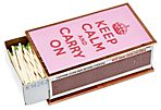 Keep Calm and Carry On Matchbox, Pink