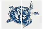 Blue Turtle, diptych