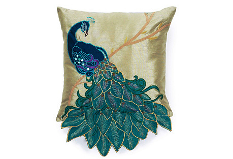 Toya's Tales Lust Worthy Pillow - Feathered Friends Teal Peacock Pillow