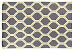 Mina Flat-Weave Rug, Gray