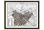 Taupe and Gray Amsterdam Map