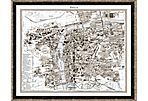 Taupe and Gray Prague Map