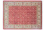 "9'x11'10"" Allison Rug, Red/Beige"