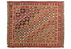 "6'2""x7'3"" Sumakh Abigal Rug, Multi/Red"