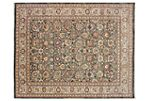 9'x12' Trace Rug, Light Green/Light Tan