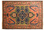 "7'10""x10'7"" Jala Rug, Rust/Green"