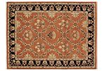 "9'1""x12' Shirinada Rug, Rust/Black"