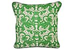 Bold 18x18 Linen Pillow, Green