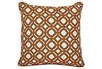 Sienna 22x22 Cotton Pillow, Brown