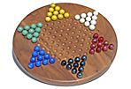 Solid Walnut Chinese Checkers Set