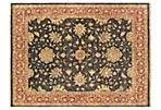 "8'11""x12' Royal Oushak Rug, Black/Copper"