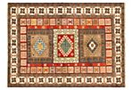 "5'8""x7'9"" Finest Mouri Rug, Red"
