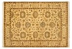 "4'8""x6'9"" Finest Mouri Rug, Light Gold"