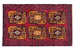 4'x6' Bahor Rug, Light Brown/Red