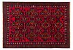 7'x10' Finest Rizbaft Rug, Dark Navy/Red