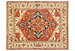 8'x10' Serapi Heritage Rug, Cream/Copper