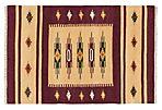 4'x6' Sari Silk Flat-WeaveRug, Red/Gold
