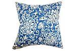 Jaffna 18x18 Cotton Pillow, Blue