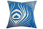 Lamassa 18x18 Pillow, Peacock