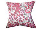 Hippy 18x18 Pillow, Pink