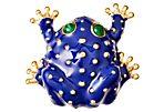 Frog Brooch, Royal Blue