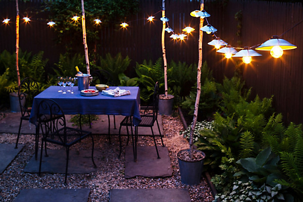 Garden lights diy one kings lane simple garden lights mozeypictures Images