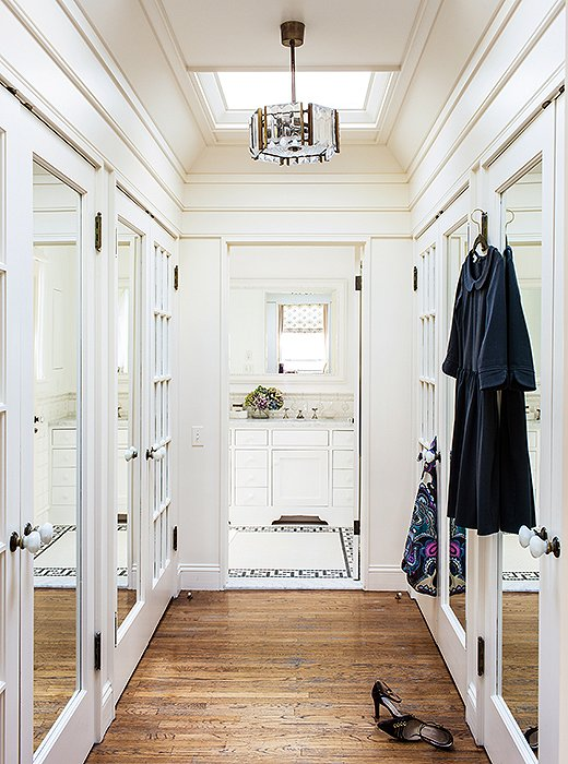 Staying organized is a cinch, courtesy of this to-die-for custom closet.