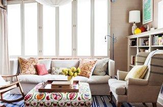 Elegant Thanks To A Base Of Textured Neutralsu2014grasscloth Wallpaper, A Grain Cloth  Armchair