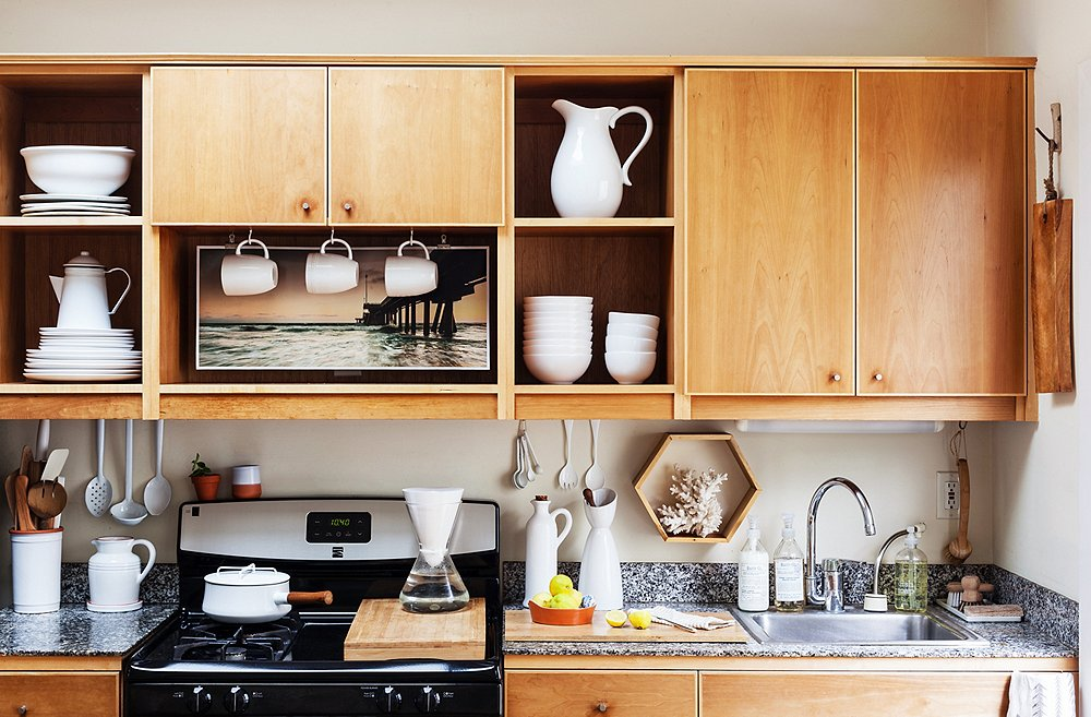 pretty design ideas kitchen shelving ideas. Photo by Nicole LaMotte 10 Gorgeous Takes on Open Shelving in Kitchens