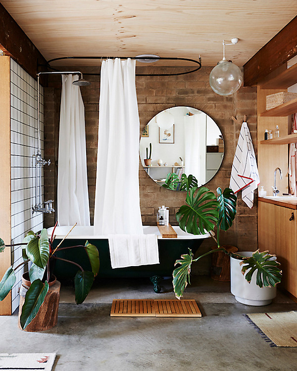 Spa Like Bathroom Decorating Ideas Part - 25: We Spied This Crush-worthy Bathroom On Pinterest, And While Its Spa-like  Vibes Have Us Daydreaming About Losing Hours To A Hot Bath And Good Novel,  ...