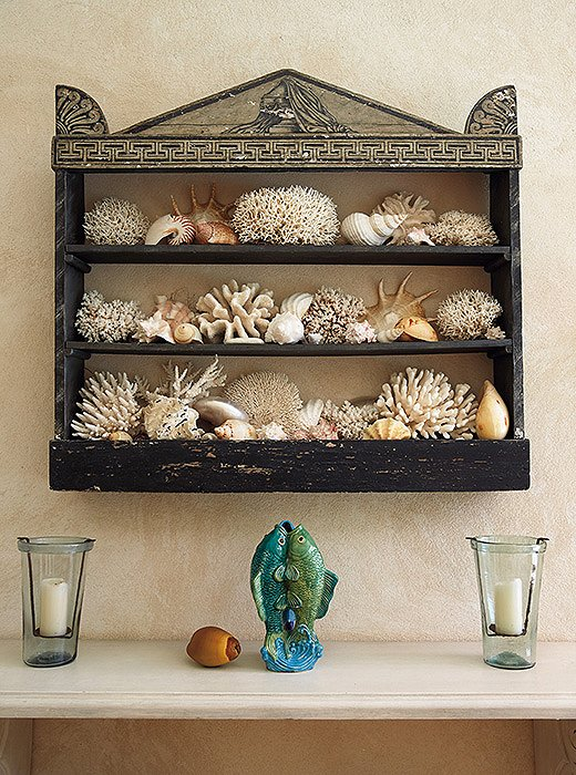 """Some of nature's offerings can add the perfect touch to a home and give it a 'sense of place,'"" Bunny writes. Here, corals and shells from the shores bring in the breezy seaside spirit of Punta Cana."