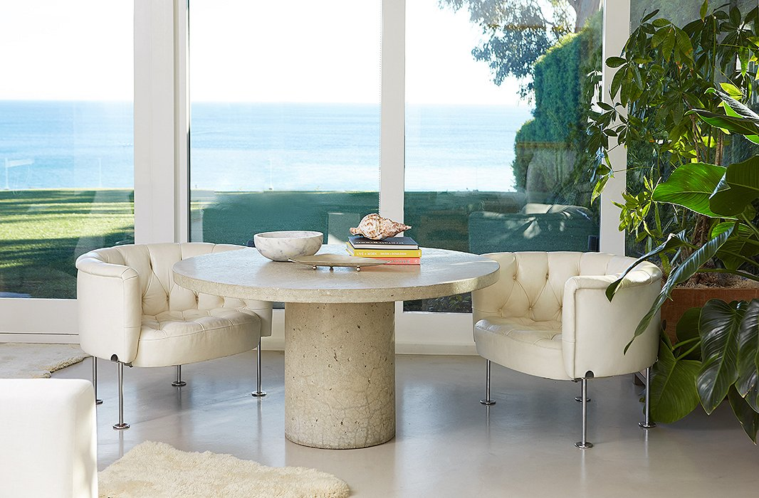 Cox worked with architect Michael Kovac and interior designer Trip Haenisch on her Malibu home, a two-acre property that encompasses guest cottages, a tennis house, and a screening room along with the main house.