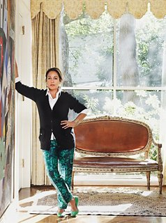 Designer Michelle Nussbaumer At Home In Dallas, Where She And Her  Swiss Born Husband