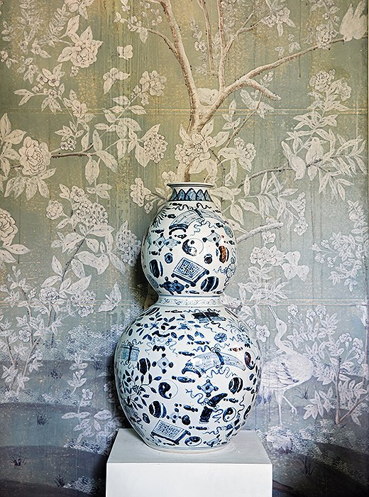 """Whether on a grand scale or a miniature one, the play of pattern on pattern enhances rooms—and lives—in an endless variety of ways,"" writes Michelle in Wanderlust."