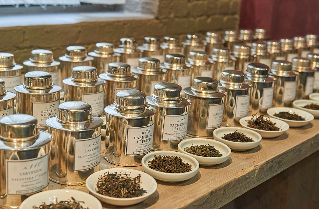 Bellocq's pure teas—black, green, white, oolong, pu-erh—are all full leaf, single origin. Heidi and Michael often travel to Japan and China to source their leaves.