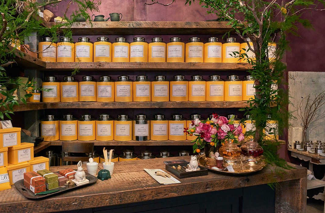 Bellocq's canisters keep their tea leaves fresh and fragrant. Before you get to making your cup of tea, take a moment to inhale the subtle aroma of the leaves—the scent alone might make you fall in love.