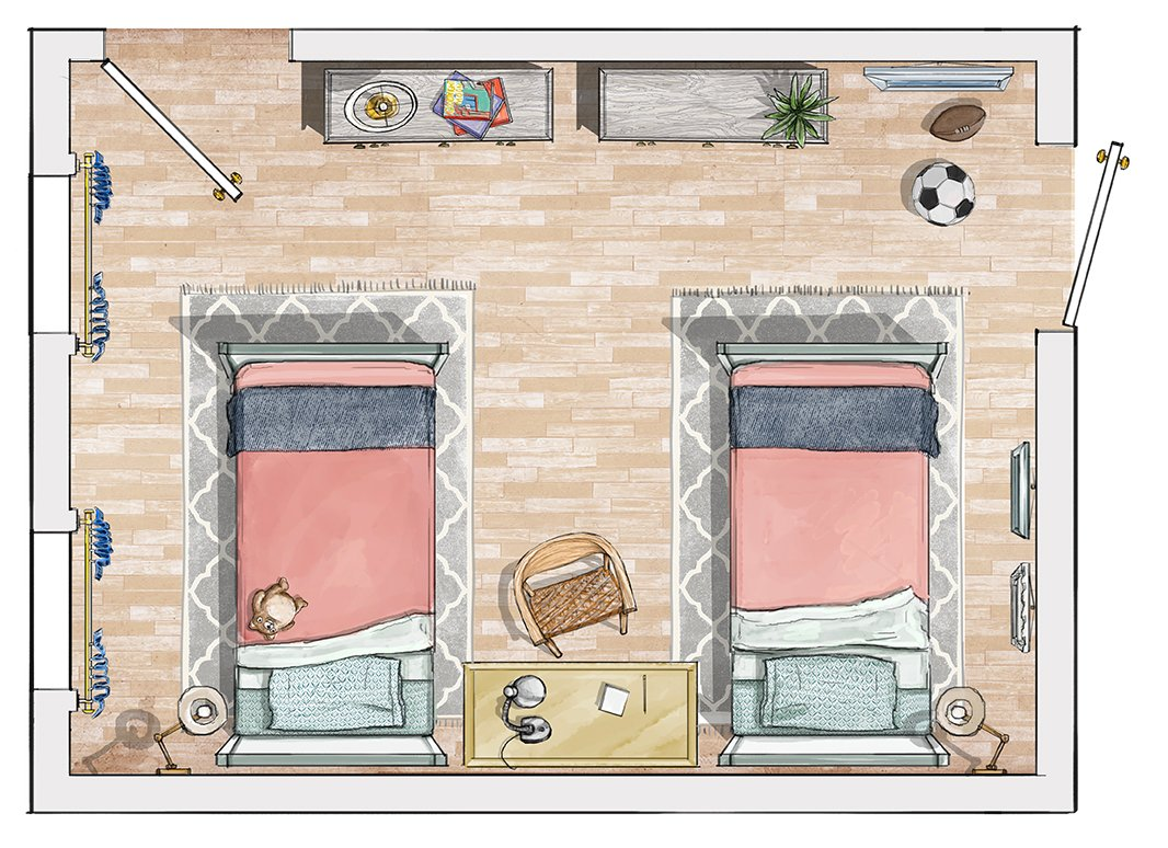 The perfect bedroom layout