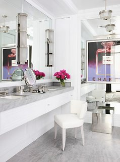 Old Hollywood Glamour Bathroom Decor Photo By Art+commerce