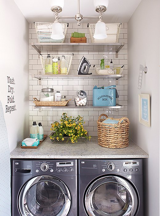Beautifully organized laundry room